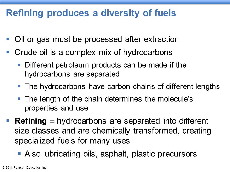 Refining produces a diversity of fuels