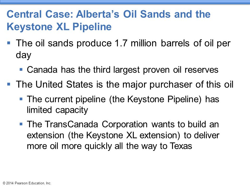 Central Case: Alberta's Oil Sands and the Keystone XL Pipeline