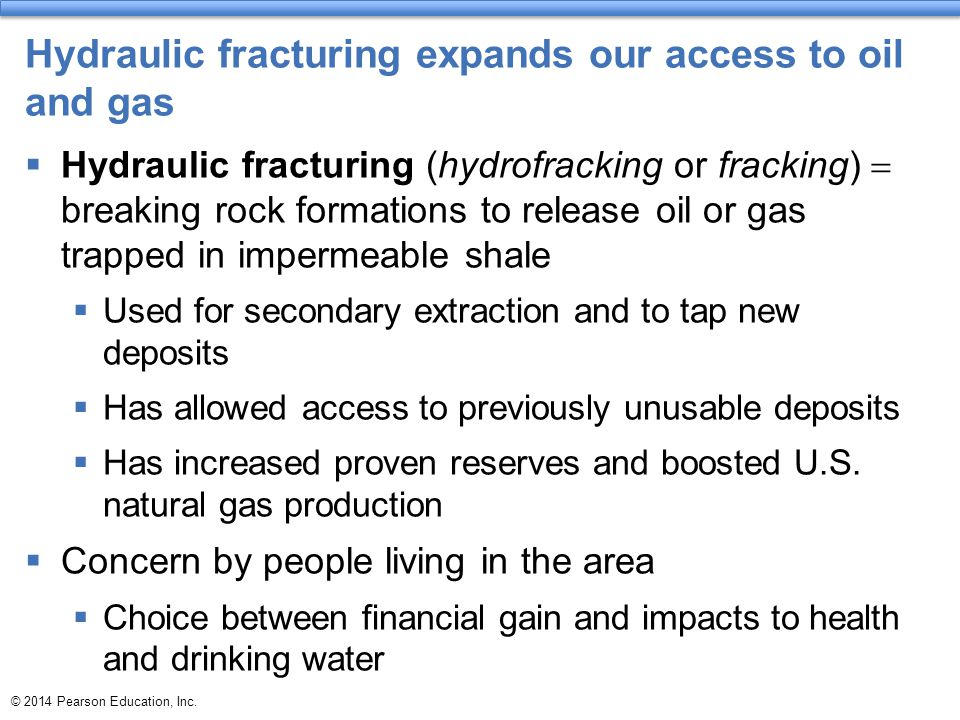 Hydraulic fracturing expands our access to oil and gas