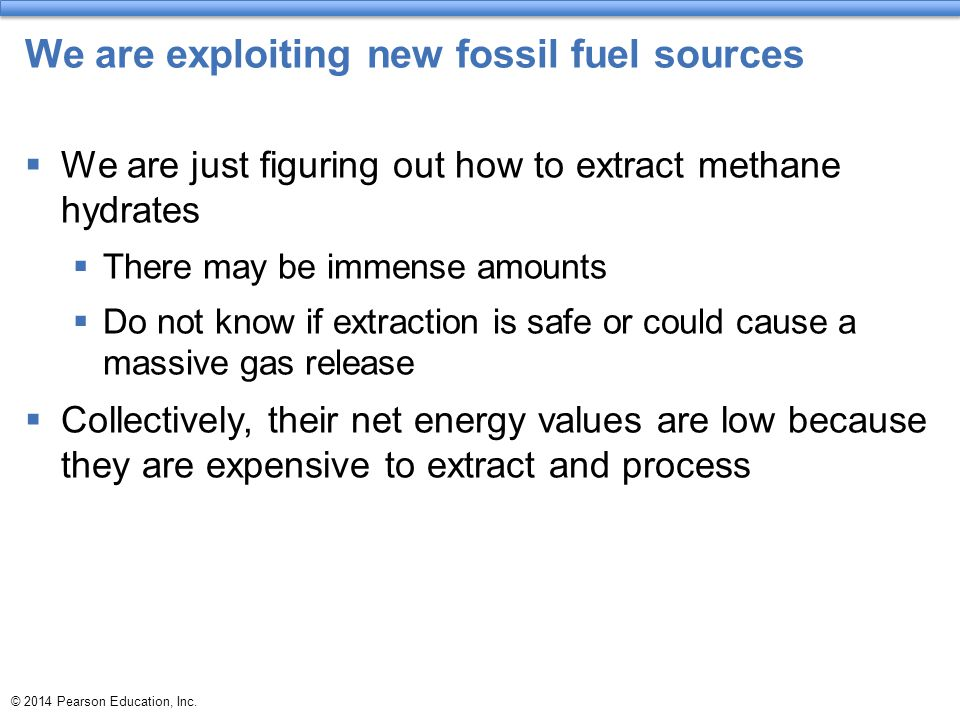 We are exploiting new fossil fuel sources