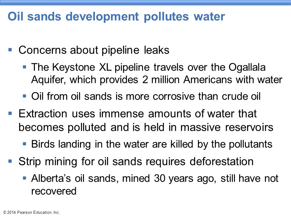Oil sands development pollutes water