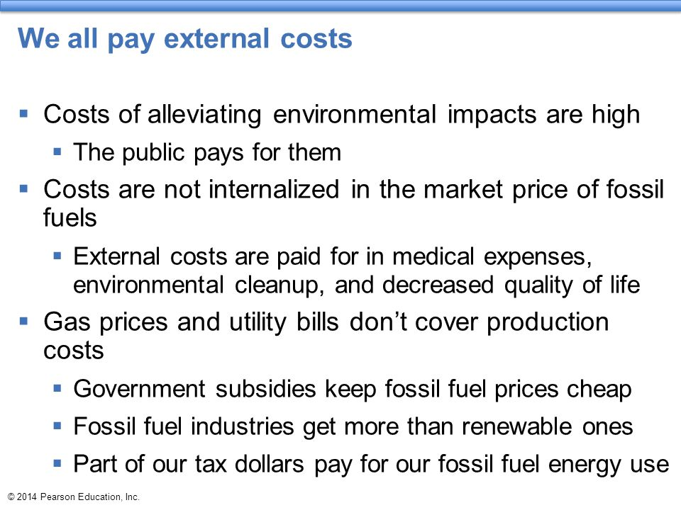 We all pay external costs