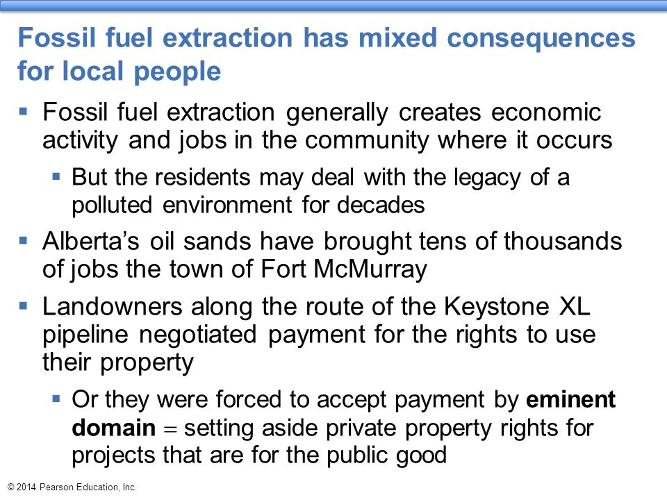 Fossil fuel extraction has mixed consequences for local people