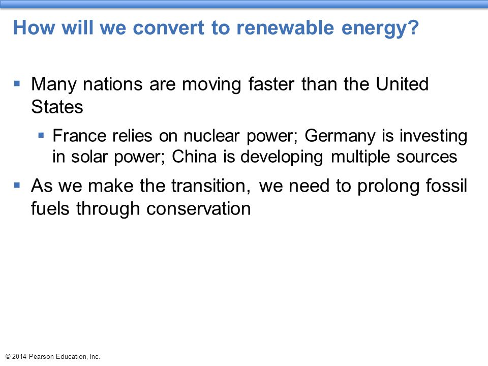 How will we convert to renewable energy