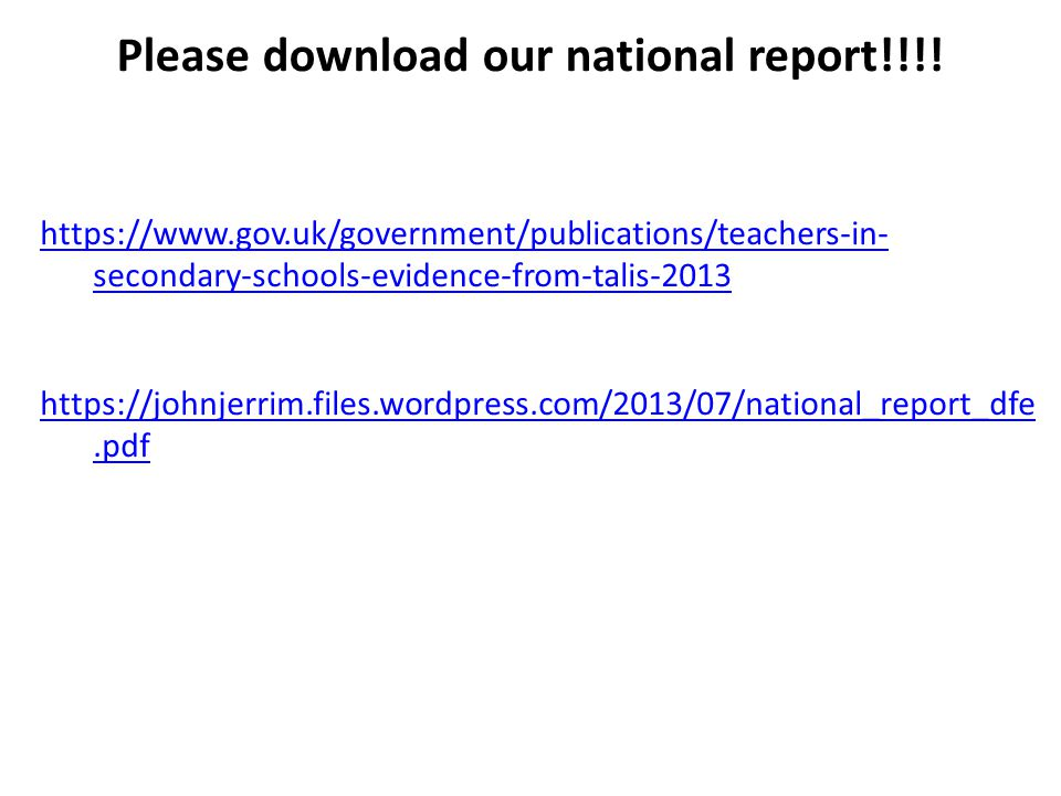 Please download our national report!!!!
