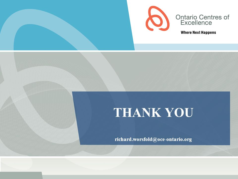 THANK YOU richard.worsfold@oce-ontario.org
