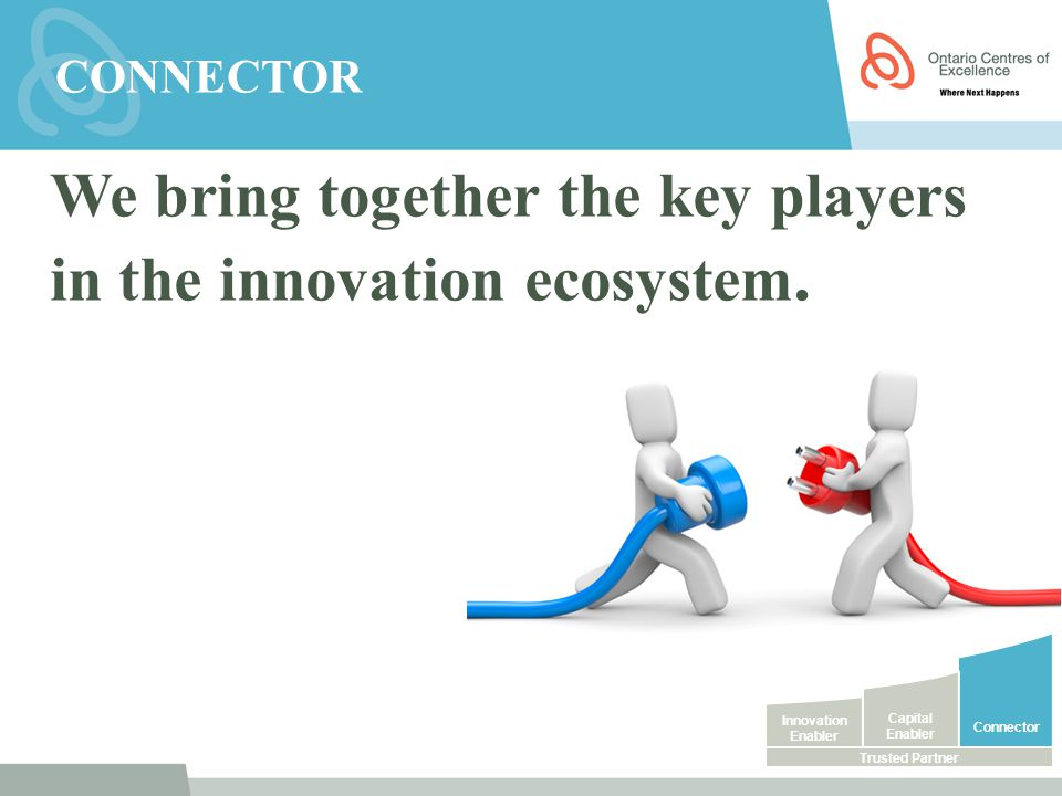 We bring together the key players in the innovation ecosystem.