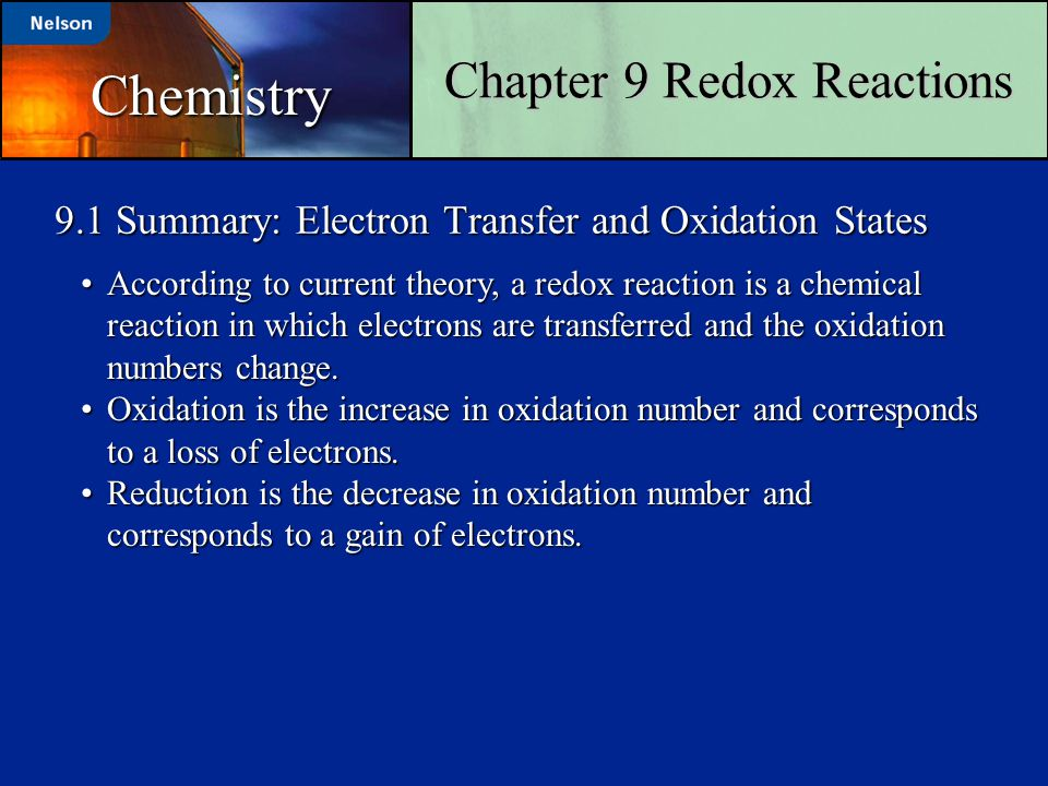 9.1 Summary: Electron Transfer and Oxidation States