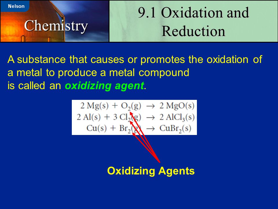 9.1 Oxidation and Reduction
