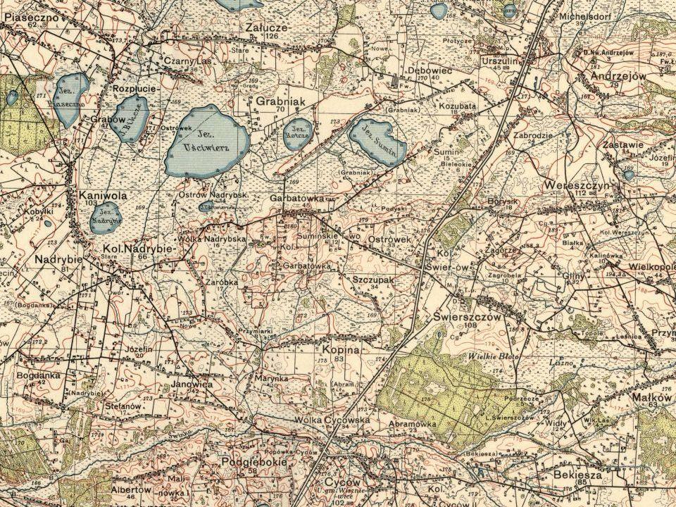 Michelsdorf near Urszulin, Debowiec, Zalucze, Stefanow, Bogdanka, Cycow, Nadrybie, Rozplucie