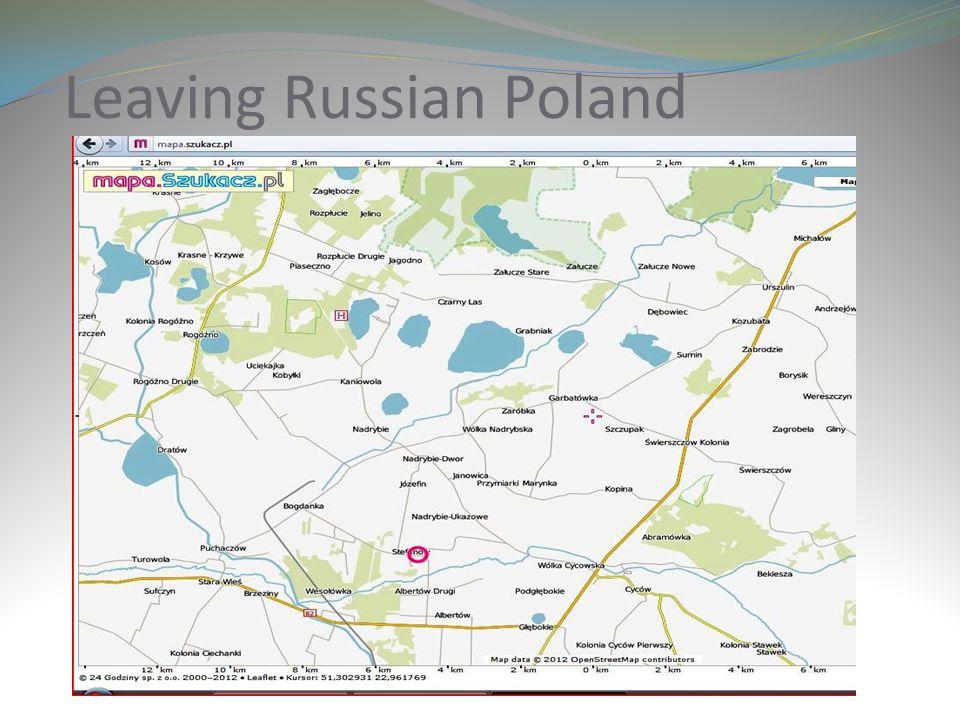 Leaving Russian Poland