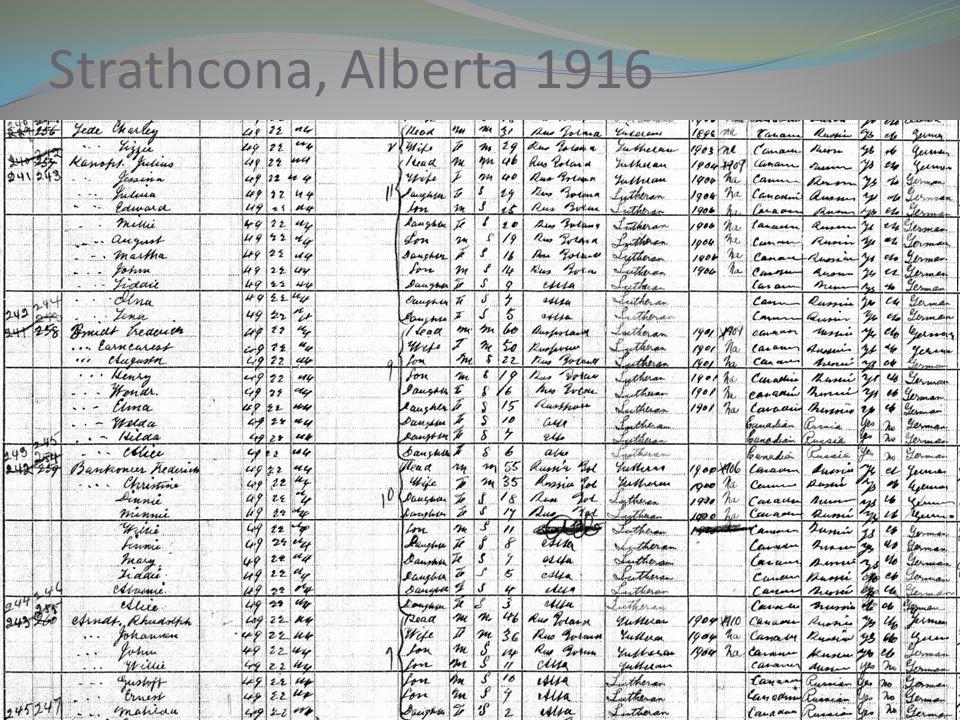 Strathcona, Alberta 1916