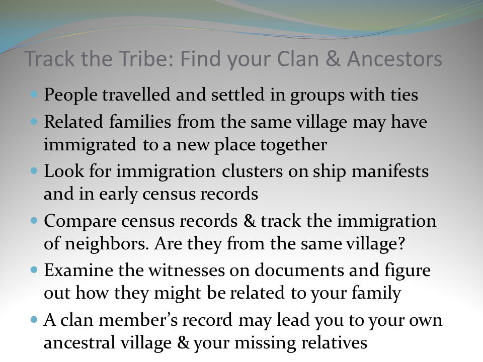Track the Tribe: Find your Clan & Ancestors