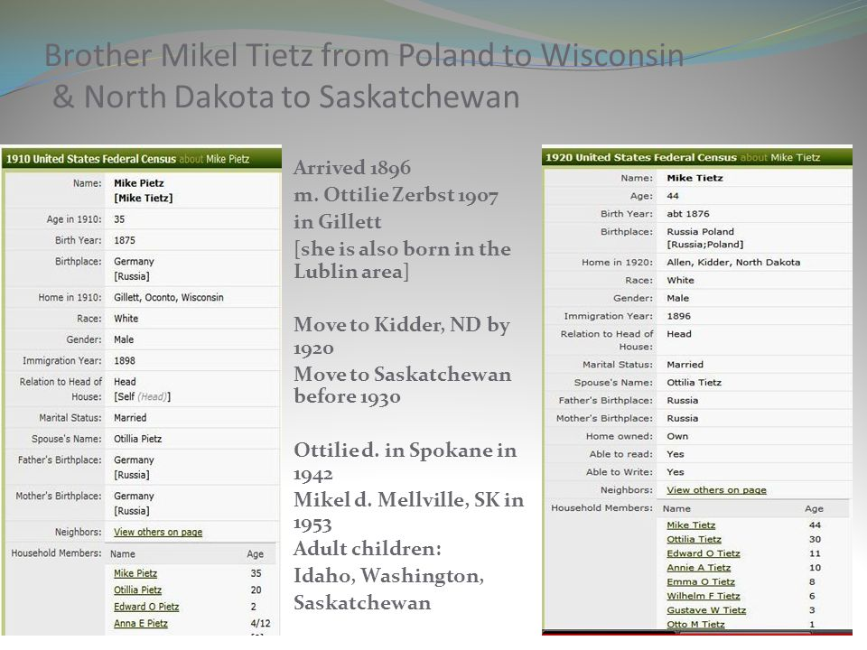Brother Mikel Tietz from Poland to Wisconsin & North Dakota to Saskatchewan