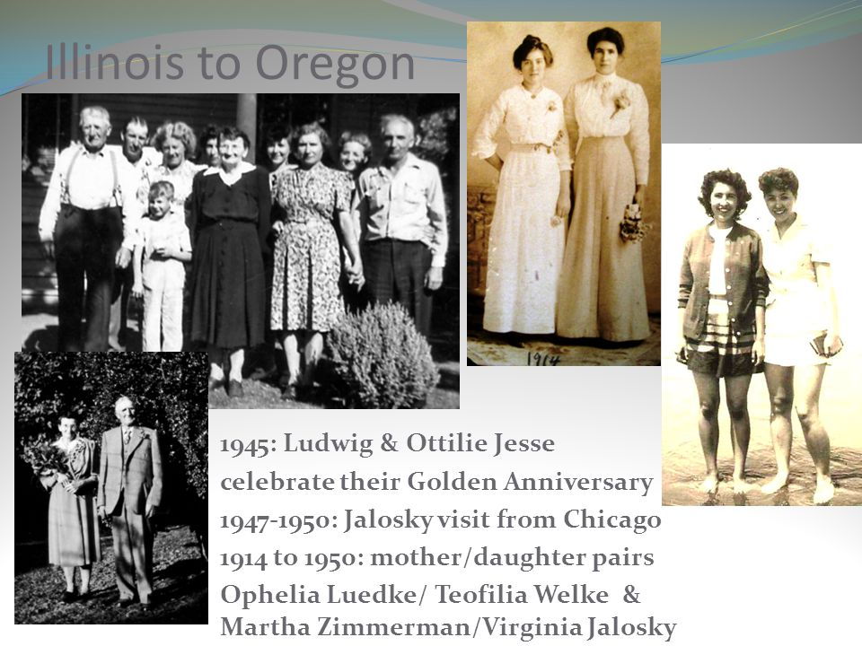 Illinois to Oregon 1945: Ludwig & Ottilie Jesse