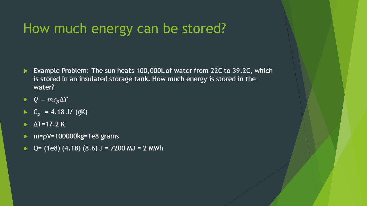 How much energy can be stored