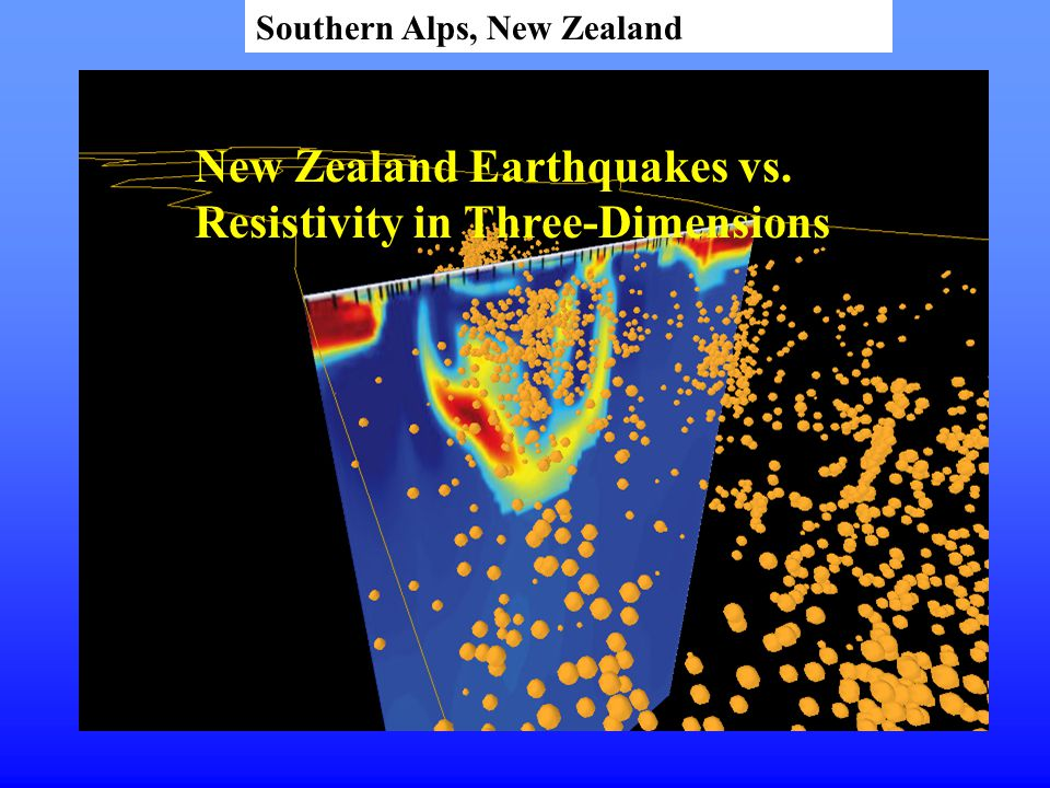 New Zealand Earthquakes vs. Resistivity in Three-Dimensions