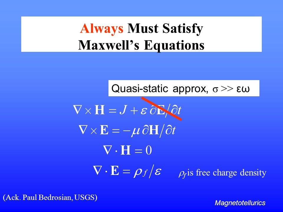 Always Must Satisfy Maxwell's Equations