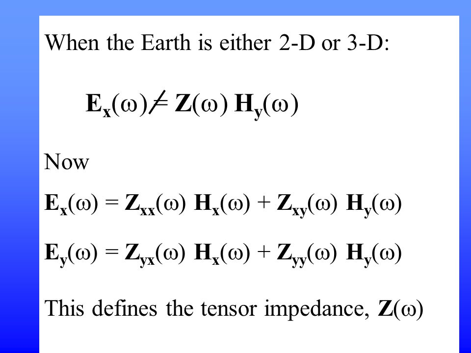 When the Earth is either 2-D or 3-D: