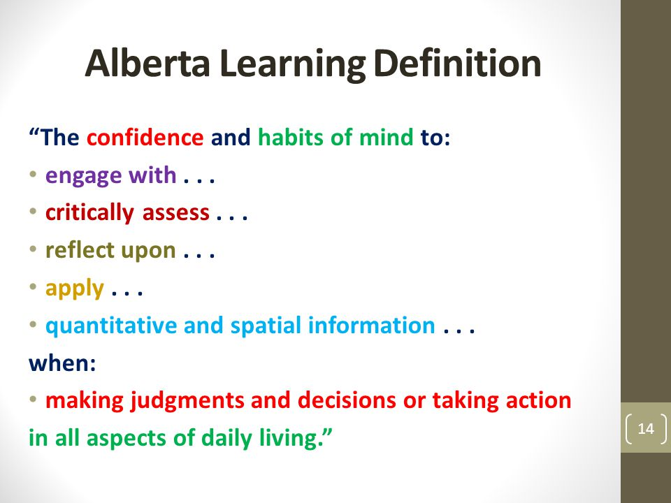 Alberta Learning Definition