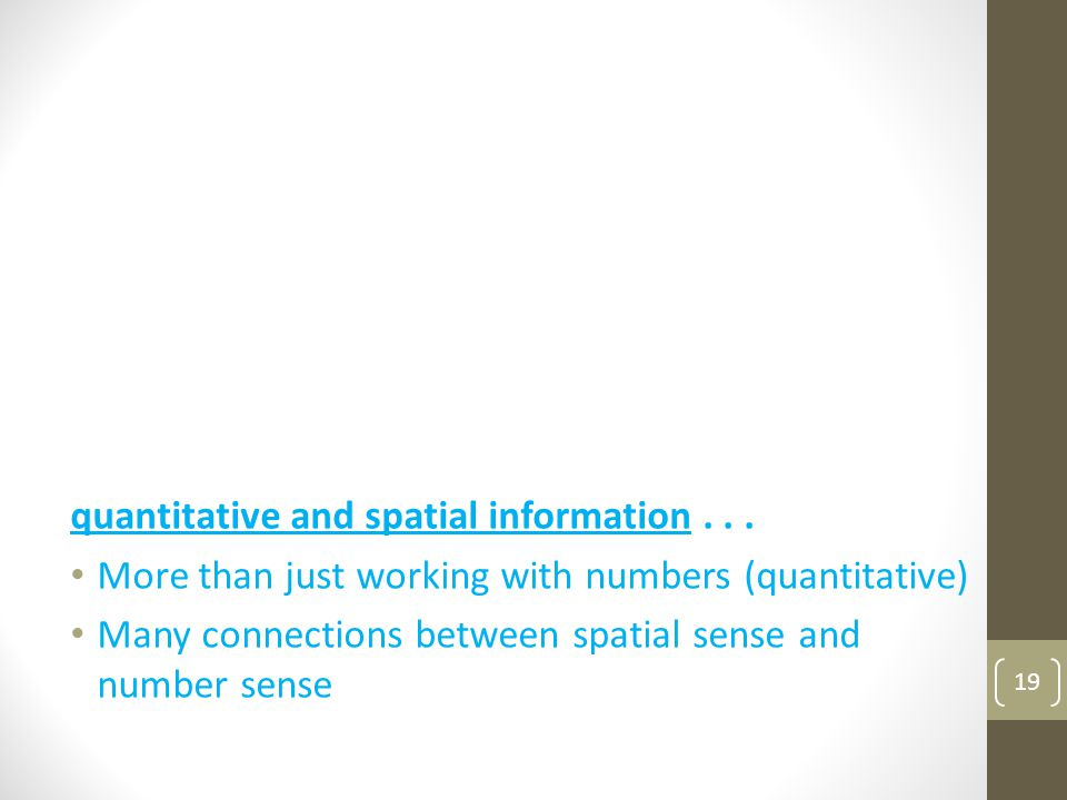 quantitative and spatial information . . .