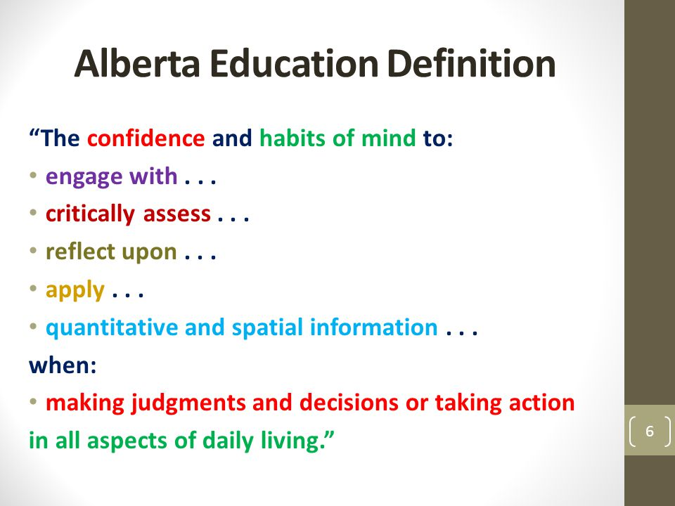 Alberta Education Definition