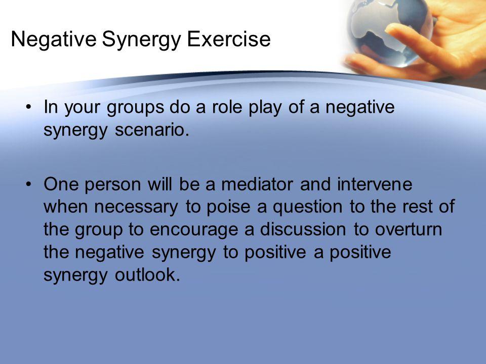 Negative Synergy Exercise