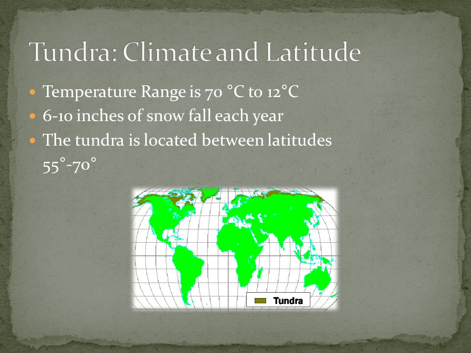 Tundra: Climate and Latitude