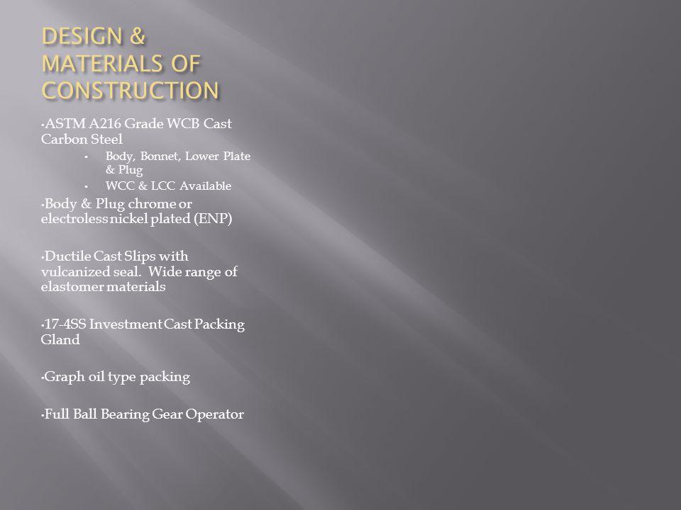 DESIGN & MATERIALS OF CONSTRUCTION