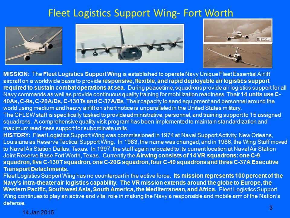 Fleet Logistics Support Wing- Fort Worth
