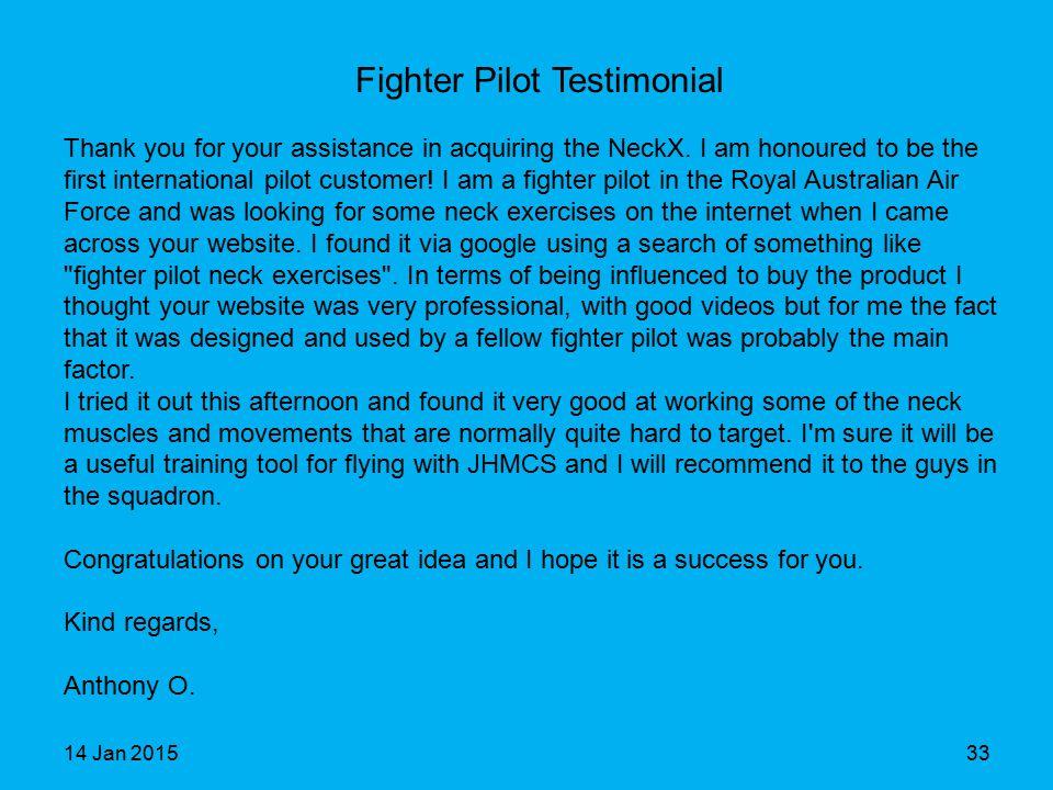 Fighter Pilot Testimonial