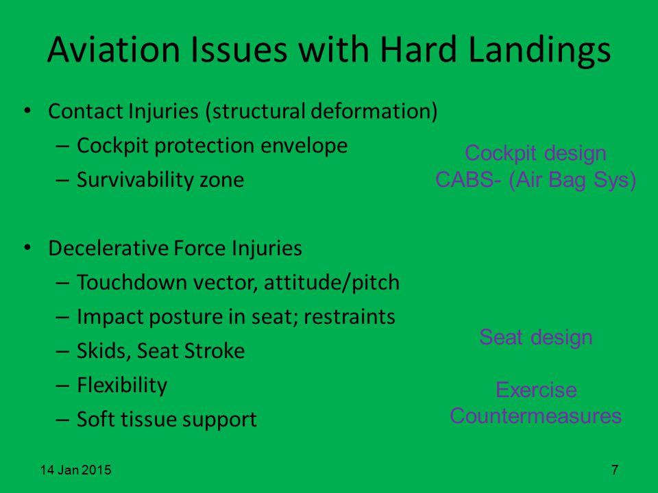 Aviation Issues with Hard Landings