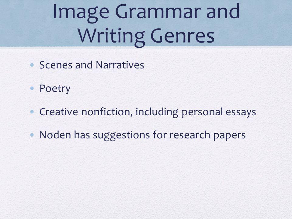 Image Grammar and Writing Genres
