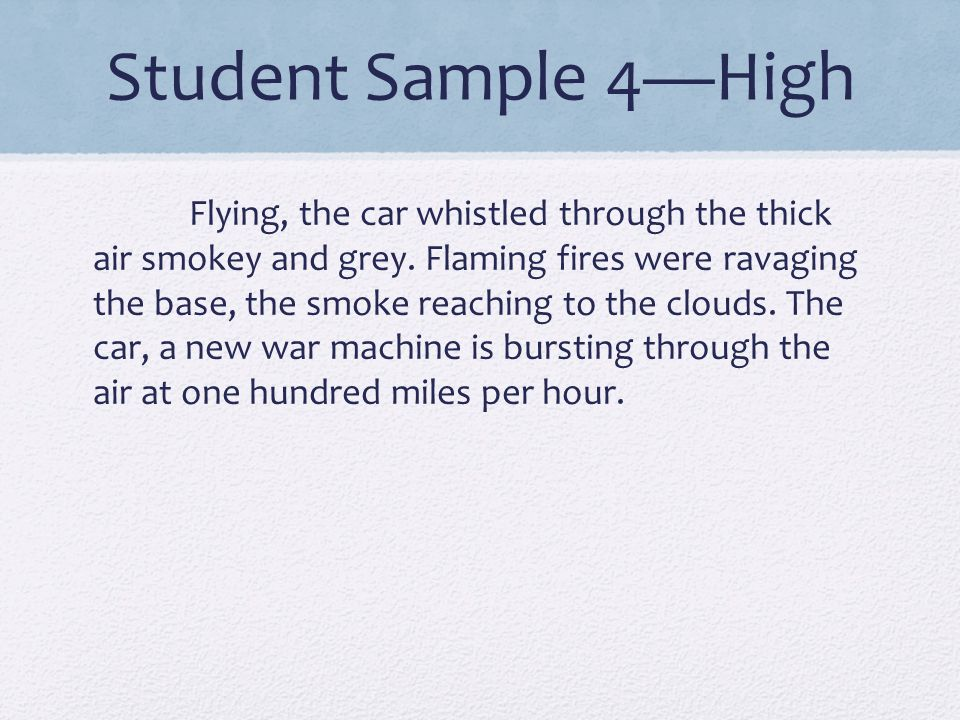 Student Sample 4—High