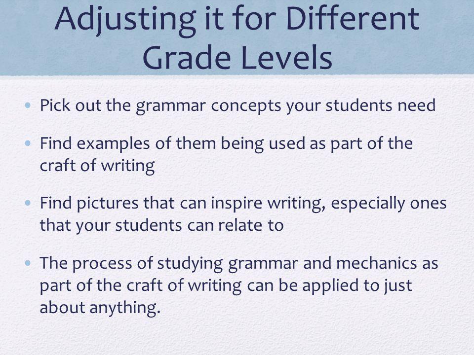 Adjusting it for Different Grade Levels