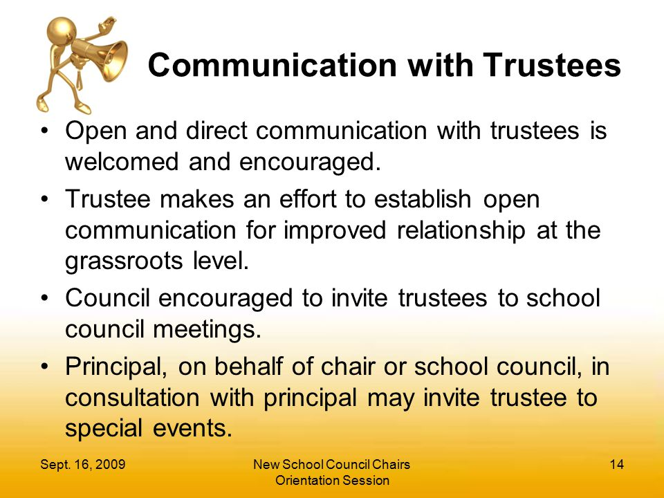 Communication with Trustees