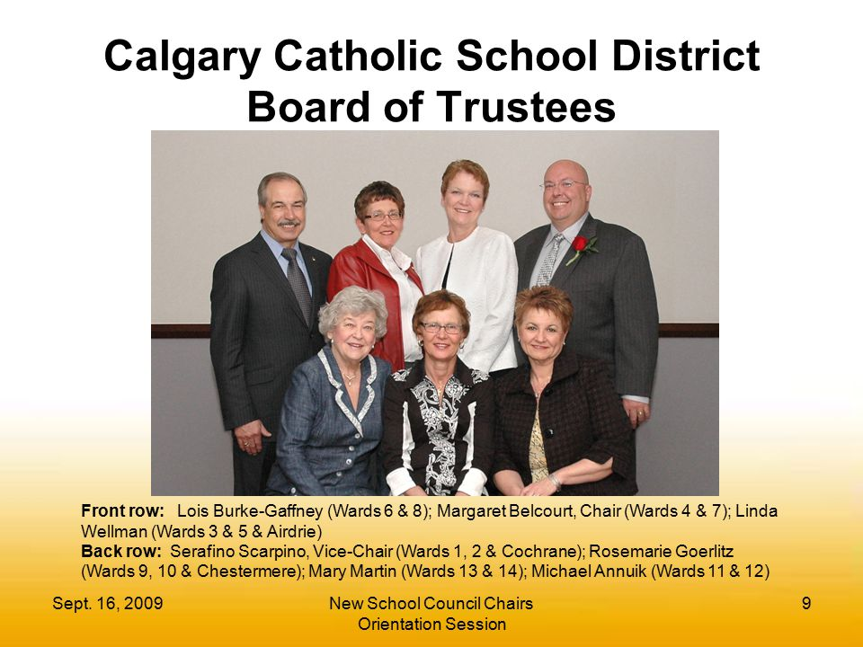 Calgary Catholic School District Board of Trustees