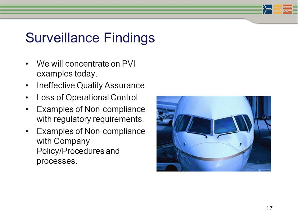 Surveillance Findings