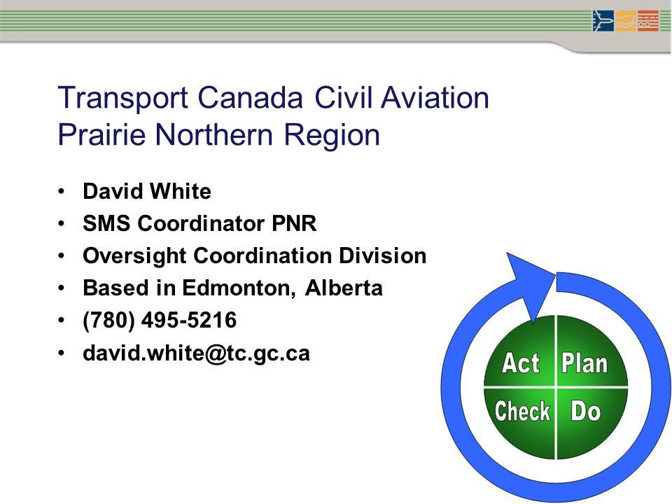 Transport Canada Civil Aviation Prairie Northern Region