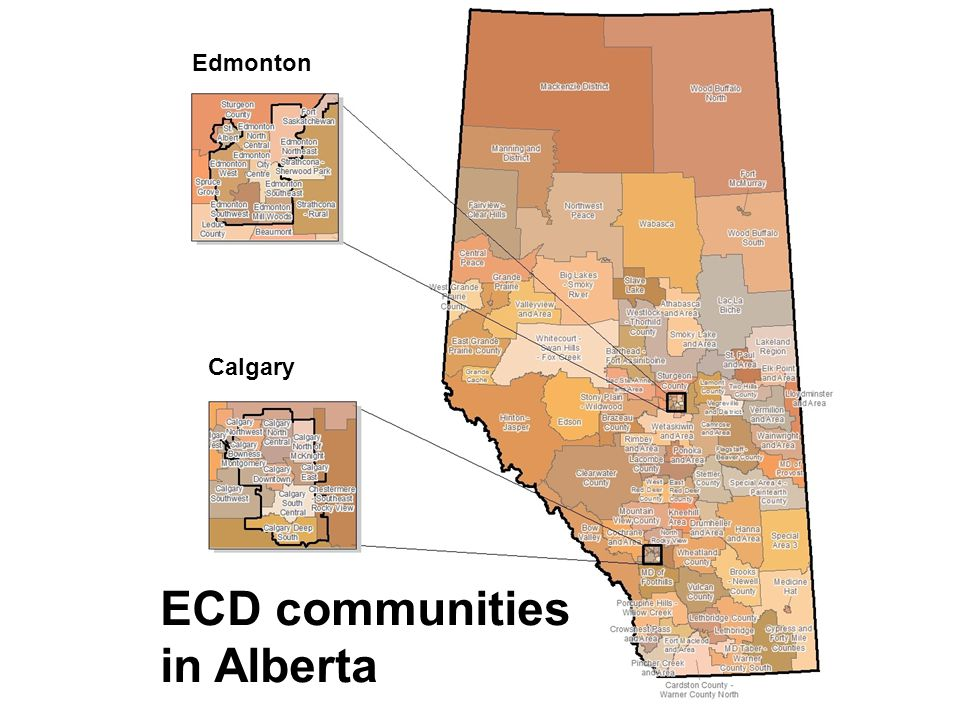 ECD communities in Alberta