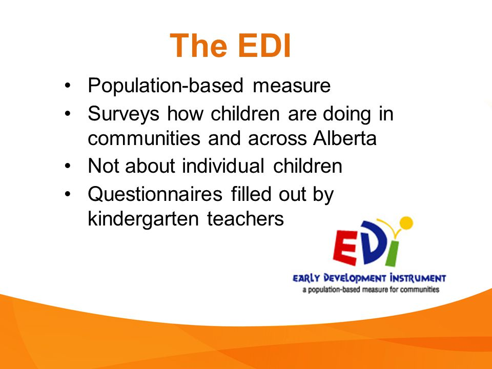 The EDI Population-based measure