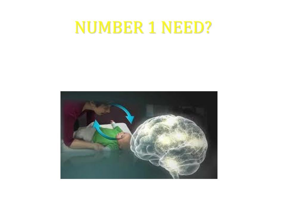 NUMBER 1 NEED NEED FOR ONGOING, NURTURING RELATIONSHIPS