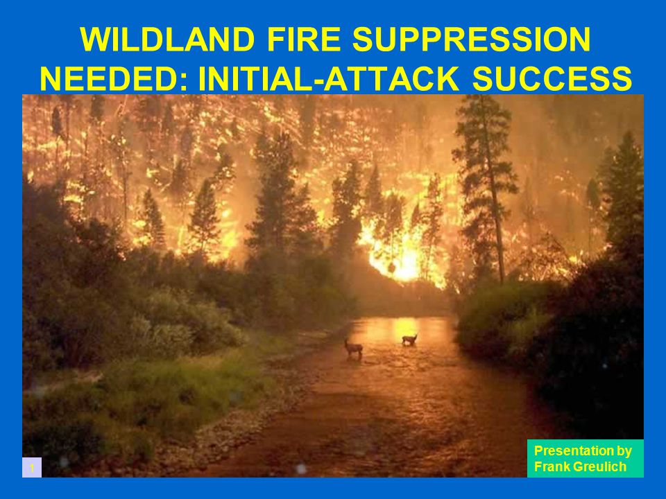 WILDLAND FIRE SUPPRESSION NEEDED: INITIAL-ATTACK SUCCESS