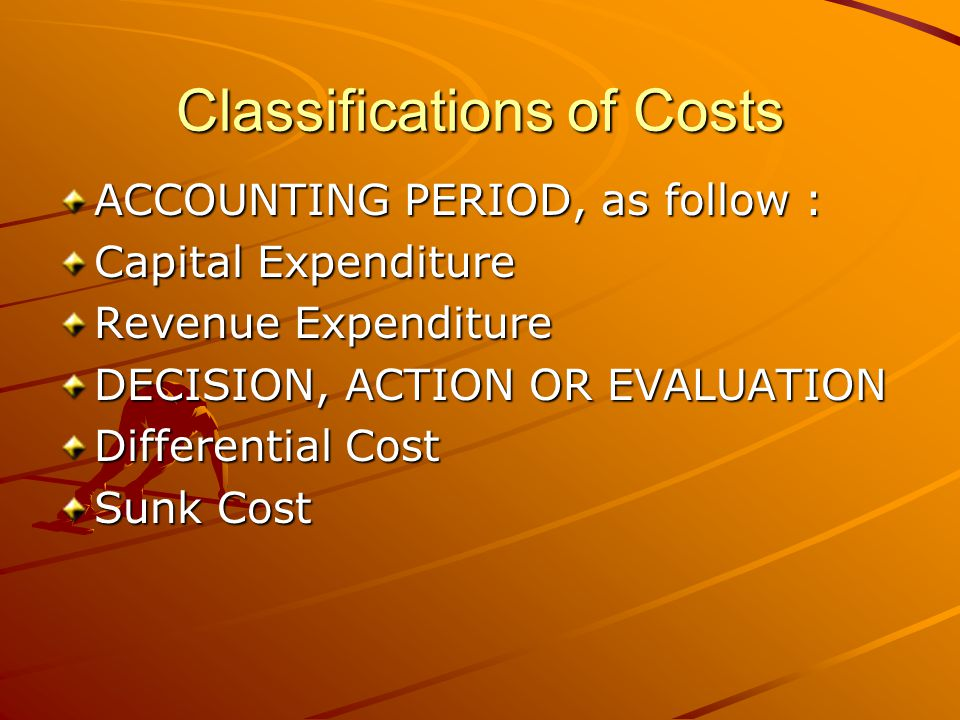 Classifications of Costs