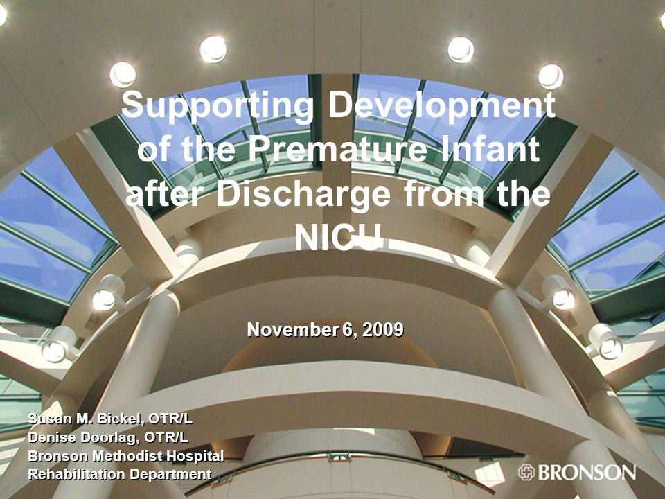 Supporting Development of the Premature Infant after Discharge from the NICU