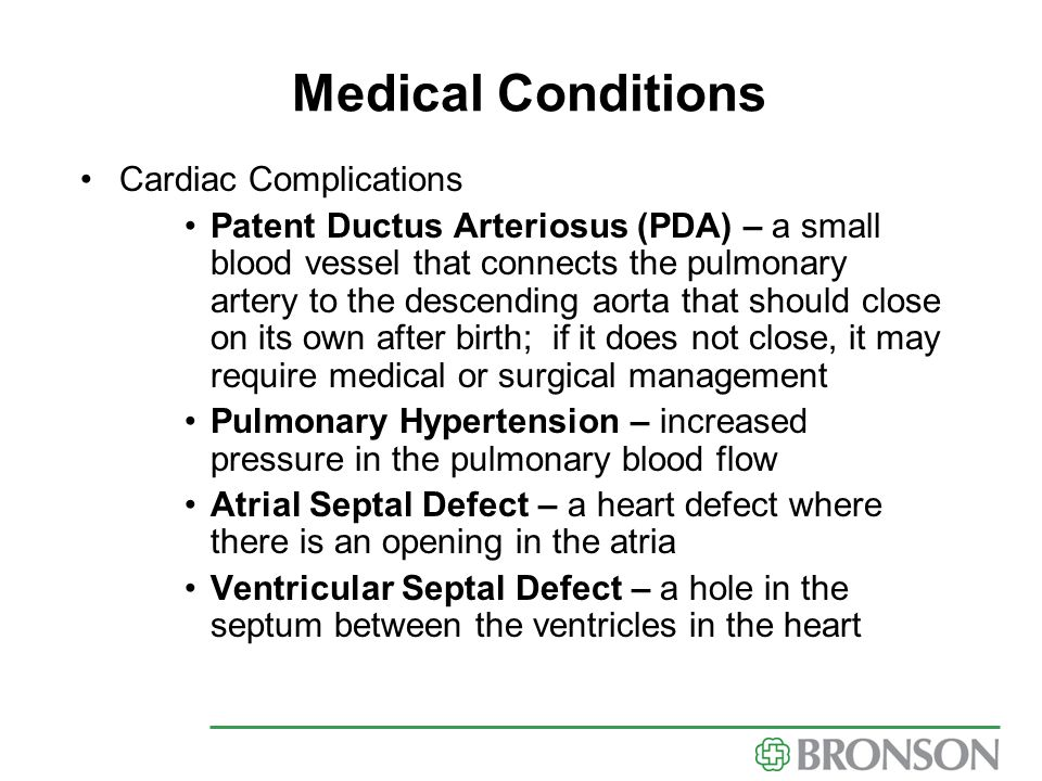 Medical Conditions Cardiac Complications