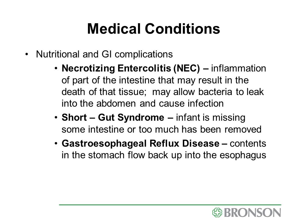 Medical Conditions Nutritional and GI complications