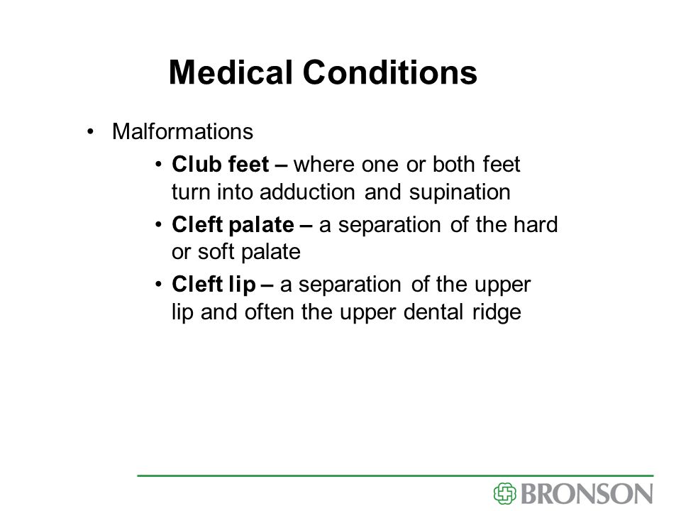 Medical Conditions Malformations
