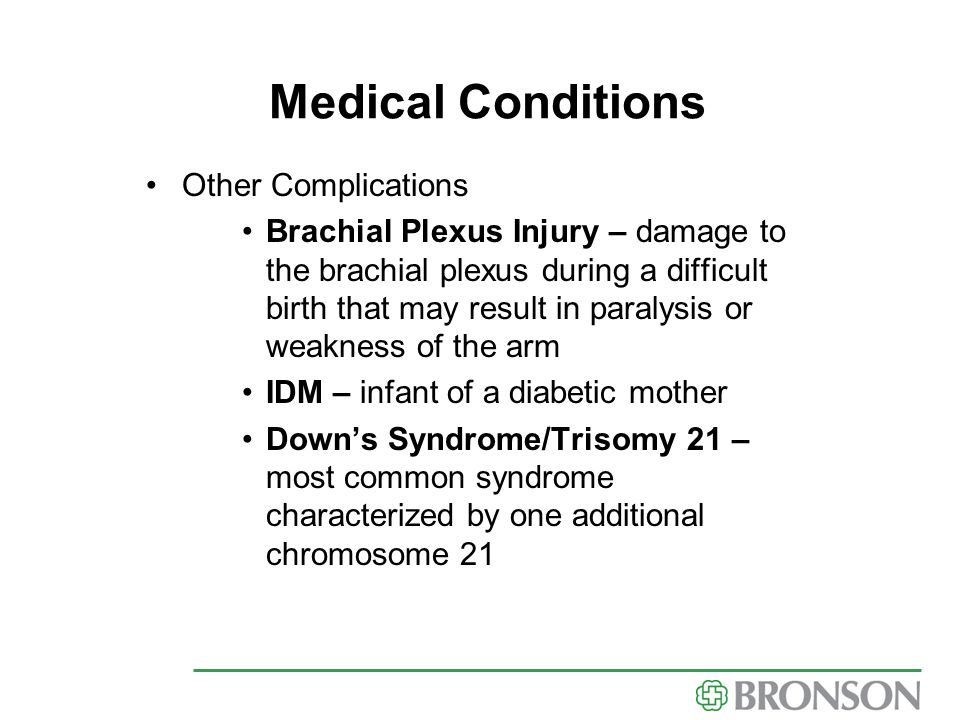 Medical Conditions Other Complications