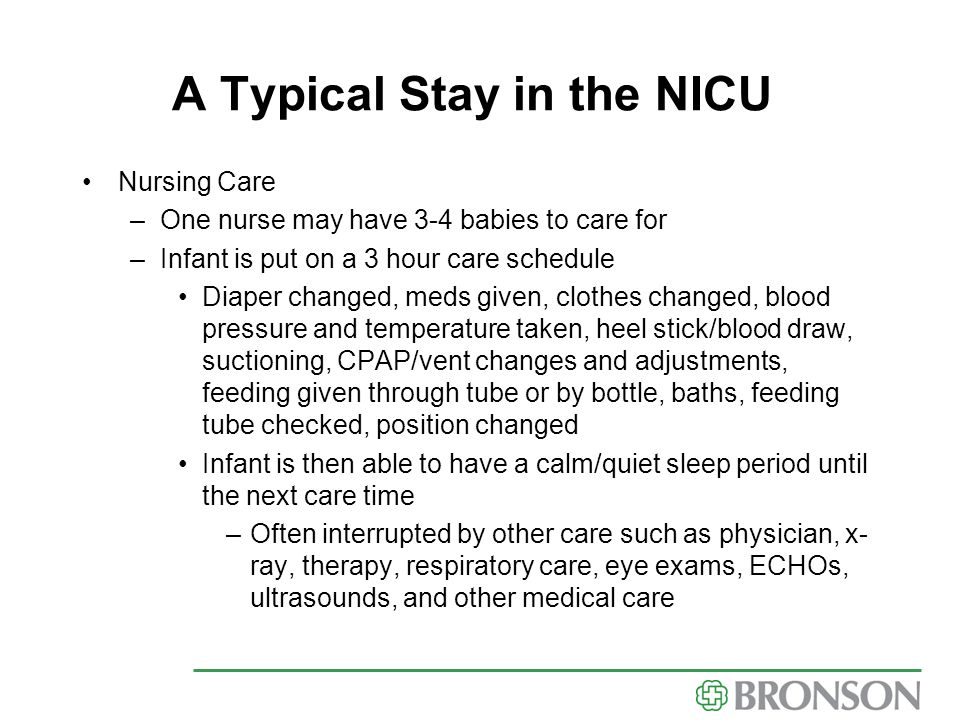 A Typical Stay in the NICU